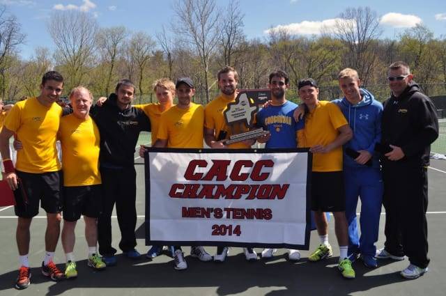 The Concordia men's tennis team advanced to the round of 16 in the NCAA tournament on Tuesday, May 6.