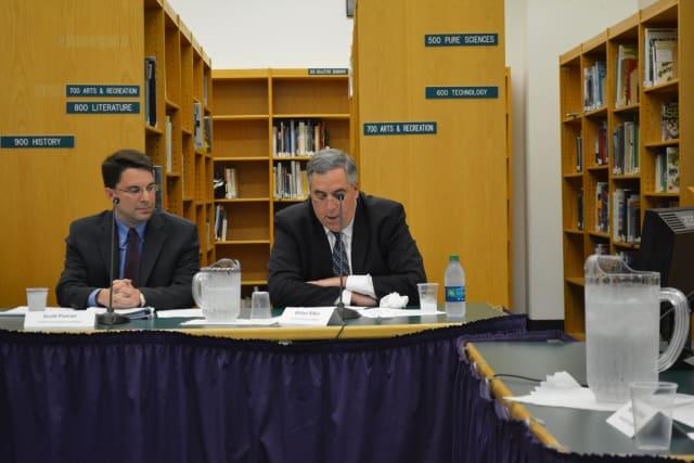 Left to right: Scott Posner and William Rifkin, who won two Katonah-Lewisboro school board seats.