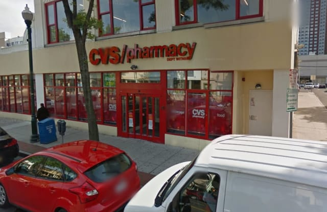 A man died after being assaulted in the parking lot behind this CVS in New Rochelle.