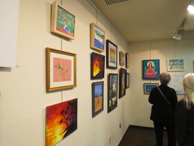 A display of artwork from artists under 9-years-old in Katonah.
