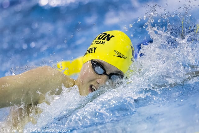 Wilton Wahoos swimmer Ian Rainey, of Westport, posted three top 10 times in events over the winter, according to USA Swimming.