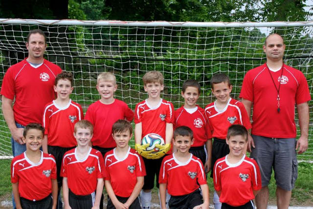 The Mount Pleasant Lions Under-9 boys soccer team  is unbeaten at 5-0 with one game left in the spring season.