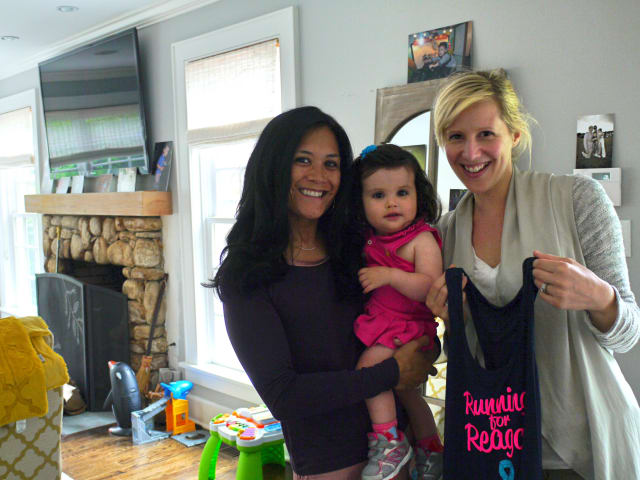 Sally Fulcher of Fairfield, will be running a half marathon in honor of her friend Cindy Shanley's 20-month-old daughter Reagan who was diagnosed with Hydrocephalus.