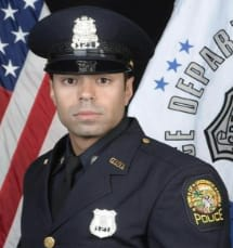 Greenwich Police Officer Justin Rivera was named May's Officer of the Month.