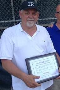 Bob Robustelli received the coveted Wellington Mara Youth Coaching Award from The Mickey Lione Jr. Fund.