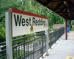 The platform at West Redding on the Danbury branch of Metro-North.