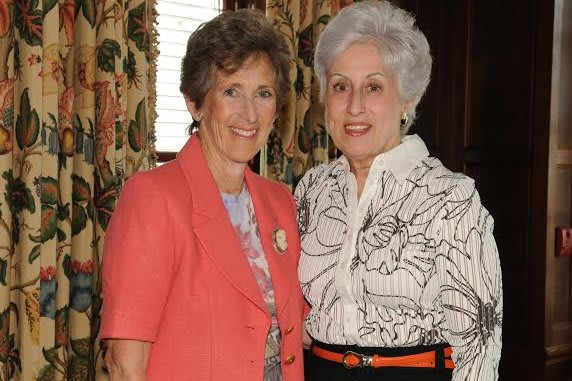 Froma Benerofe, left, is the new president of the board of trustees at ArtsWestchester in White Plains. She succeeds Jacqueline Walker.