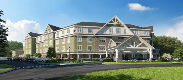 A rendering of the new senior assisted living home Brightview Tarrytown.