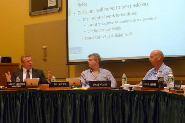 The Irvington Board of Education recently approved a vote to authorize a facility and field improvements.