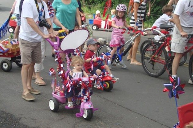 Come celebrate the Fourth of July in Darien at the annual YWCA Push-n-Pull Parade through downtown. These participants enjoyed the 2011 festivities.