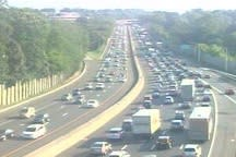 Traffic was jammed again throughout Fairfield County, making for a touch afternoon commute.