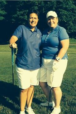 Jane Dally, left, and Phyllis Trefz won the President's Cup at the Longshore Women's Golf Association.