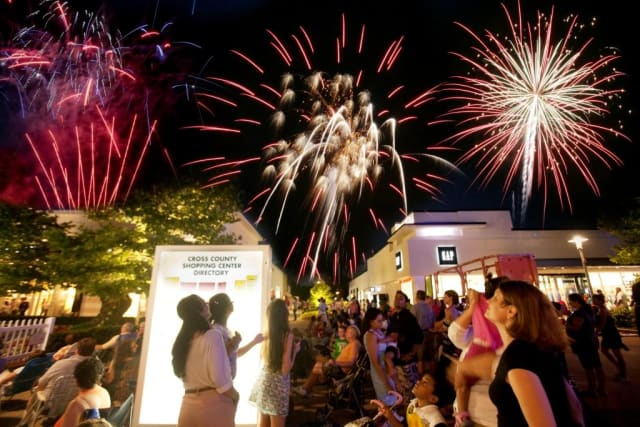 The Cross County Shopping Center fireworks show has been rescheduled for Saturday, July 12.