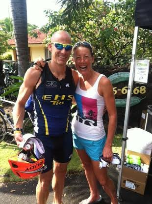 Wilton's Mitch West, left, with four-time world champion Chrissie Wellington, will host a question-and-answer at Elite Health Services in Greenwich on Thursday, July 10.