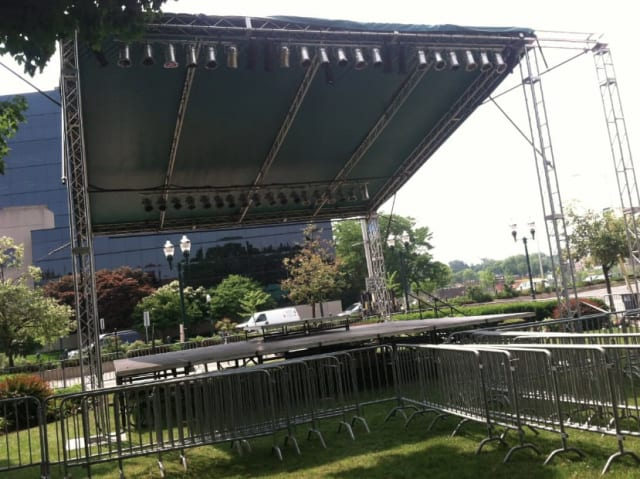 The stage is ready for live summer music in Columbus Park in Stamford as Jazz Up July kicks off Wednesday while Alive@Five begins Thursday.