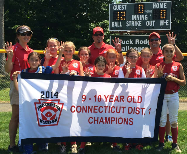 The Redding-Easton 9- and 10-year-old softball team won the District 1 championship on Saturday.