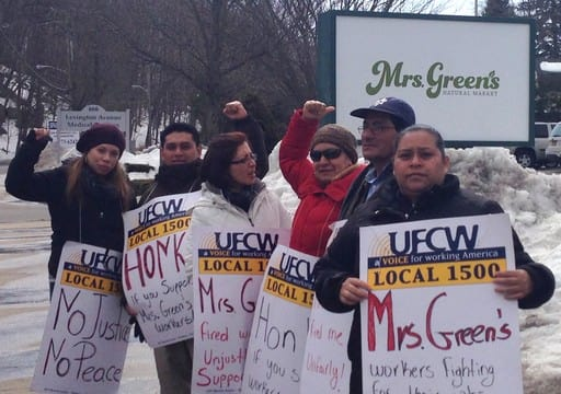 File Photo: A group protesting in front of Mrs. Green's in Mount Kisco.