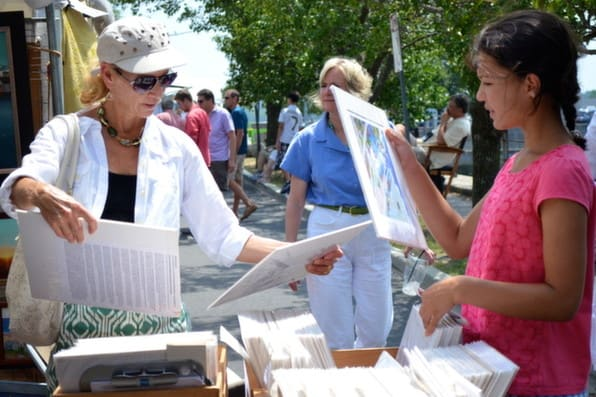 The Westport Fine Arts Festival is set up along the Saugatuck River and features original work from 135 artists.