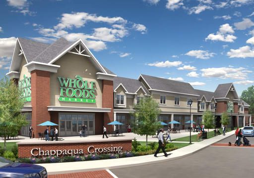 A rendering of a Whole Foods store at Chappaqua Crossing.