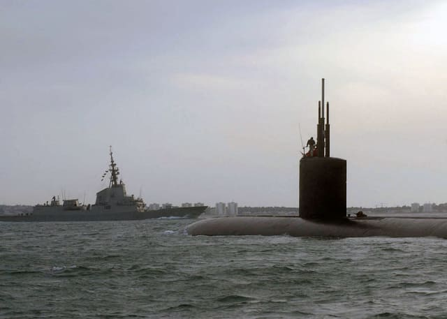 The Los Angeles class fast-attack submarine USS Springfield (SSN 761) approaches Naval Station Rota for a scheduled port visit.