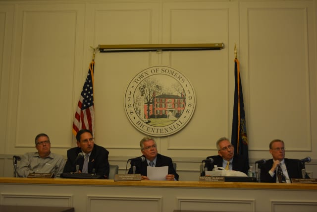 The Somers Town Board closed a public hearing on rezoning for the Hidden Meadows development at its July 10 meeting.