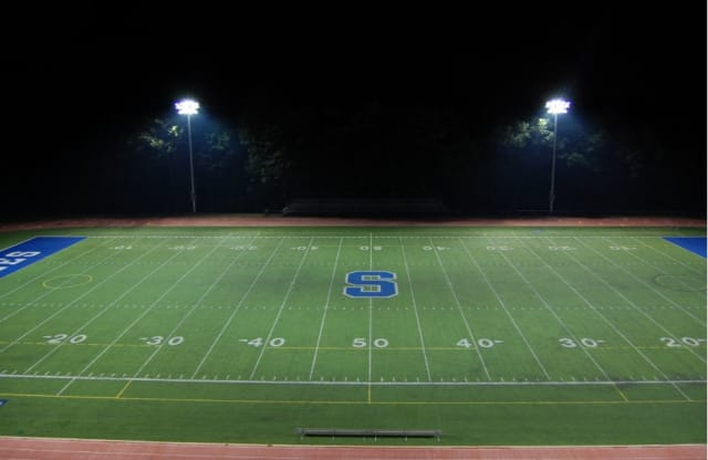 Weston High has approved stadium lighting like that seen here at Staples.