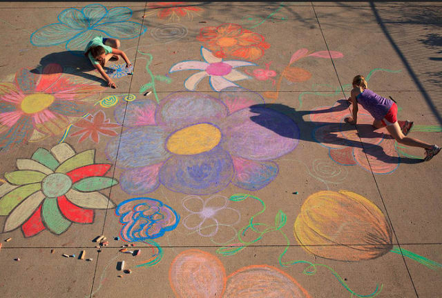 Artists are invited to apply to participate in Cross County Shopping Center's Sidewalk Chalk Art Festival.
