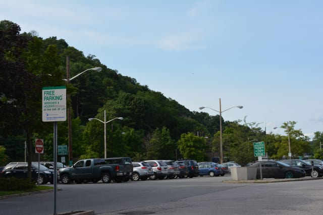 The North Moger parking lot in downtown Mount Kisco.