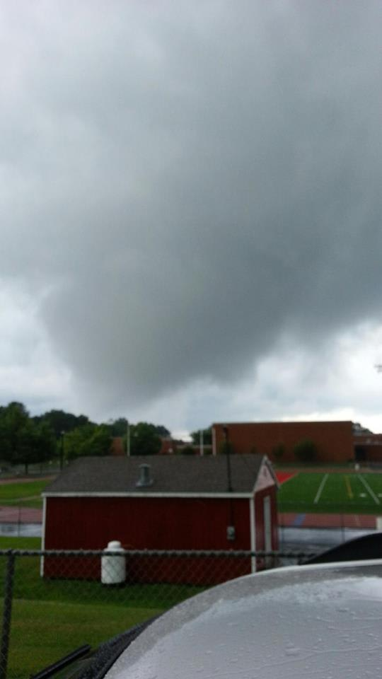 A tornado was reported during a storm midday Sunday near the hig school in Wolcott.