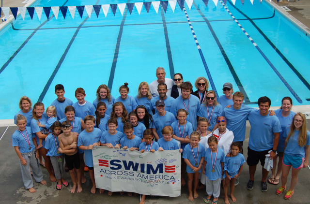 Swim Across America recently held an event at Lakeside Pool and fundraised more than $10,000.