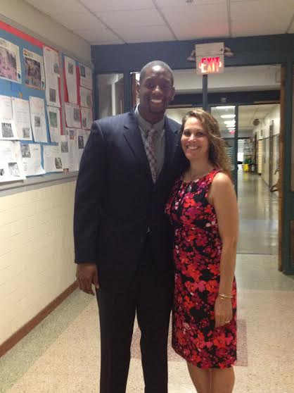 Farid Johnson, left, was recently named the new assistant principal at  Hillside Elementary School.