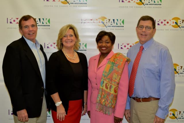 From the left, co-chair Sean Murphy; Ellen Lynch, executive director, Food Bank for Westchester; Democratic Sen. Andrea Stewart-Cousins and co-chair Christopher Murphy.