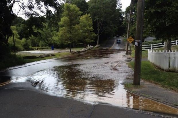 A water main break Tuesday has closed East Rocks Road.