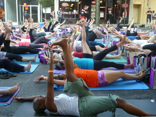 A yoga program that will be held at The Westchester in White Plains will allow patrons to learn the benefits of combining yoga with walking.
