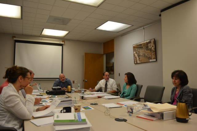 New Castle Town Board members at their Aug. 5, 2014 work session.