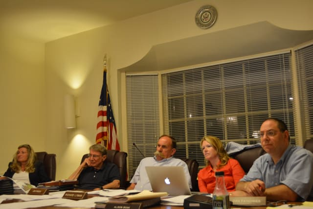 The Pound Ridge Town Board at its Aug. 7, 2014 meeting.