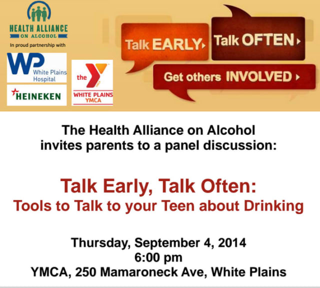 Join health officials, first responders and community leaders for a panel discussion on underage drinking.