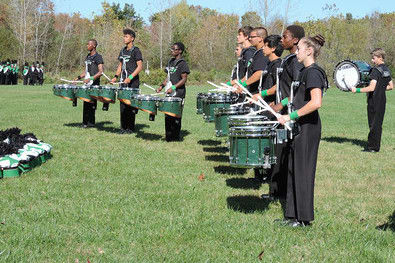 Norwalk High School's Marching Band began 12-hour band camps last week.
