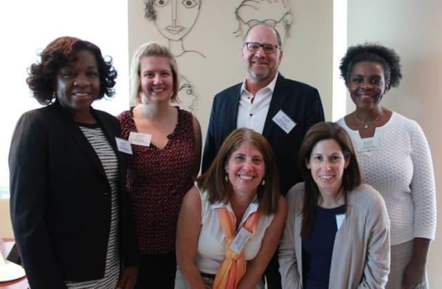 From left, Volunteer New York's board of directors Janine Daughtry, Olivia Ecker, Wendy Kaufman, Paul Ducker, Ally Gallin, Joanne Taylor (Members Joe Ali and Susan Fraysse Russ are not pictured)