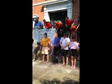 Greenburgh employees and residents will take the Ice Bucket Challenge, like this group in Pelham, to raise funds to battle ALS.