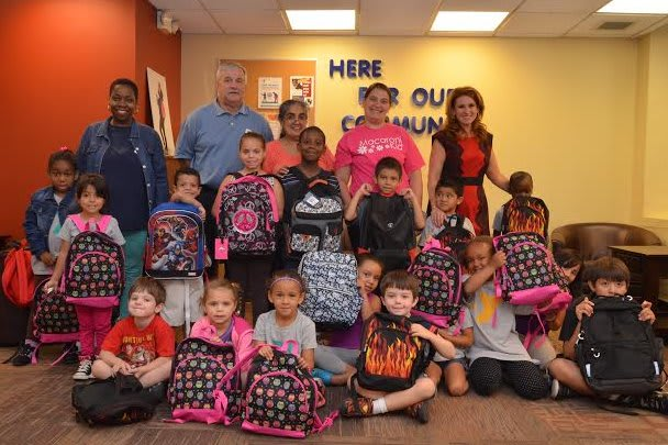 Children in day-care programs at the White Plains branch of the YMCA of Central and Northern Westchester were recipients of backpacks made by other local children in last week's Macaroni Kid's Build A Backpack Drive.