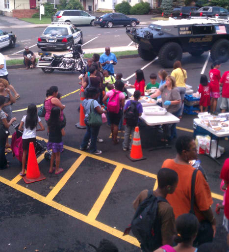 Stamford Police are hosting a back pack giveaway on Saturday for school-age children.