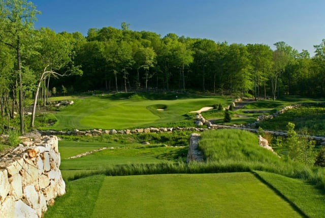A look at the 11th hole at Pound Ridge Golf Club.