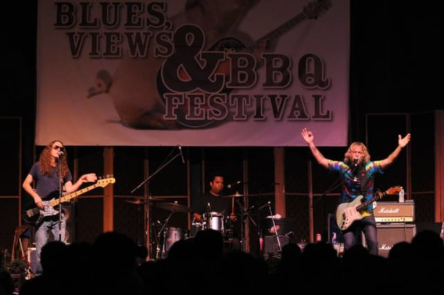Enjoy a weekend of hot food, great music and family fun in downtown Westport at the Blues, Views and BBQ Festival.