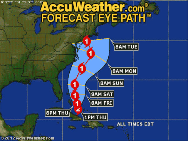 Hurricane Sandy is expected to have a large impact on the East Coast early next week.
