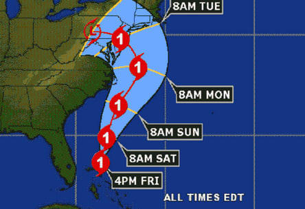 Hurricane Sandy is predicted to hit land early Tuesday, bringing heavy rain, wind and flooding to Fairfield County.