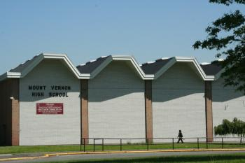 Asbestos will be removed from the Mount Vernon High School as students depart for summer vacation.