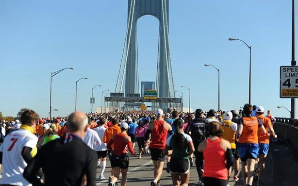 The ING New York City Marathon is still scheduled to be run Sunday beginning in Staten Island despite the ongoing recovery from Hurricane Sandy.