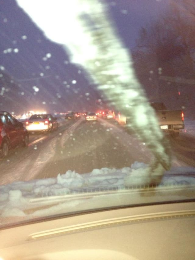 North Salem resident Steve Schiavone shot this photo Wednesday from his car on the Sprain Brook Parkway.