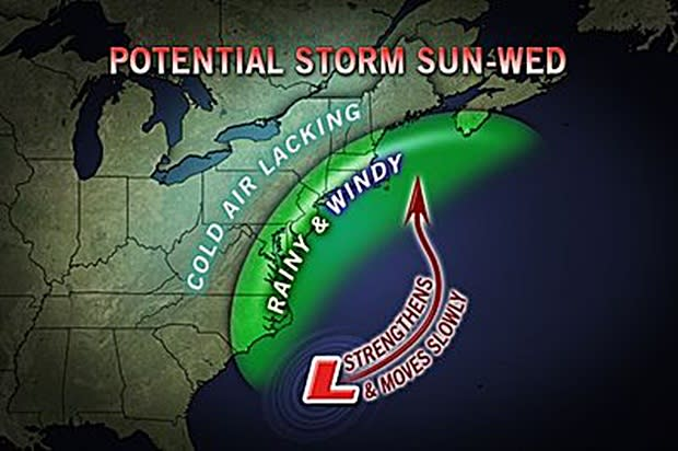The weather forecasters at Accuweather.com are tracking a possible nor'easter that could hit Fairfield County in time for pre-Thanksgiving travel.